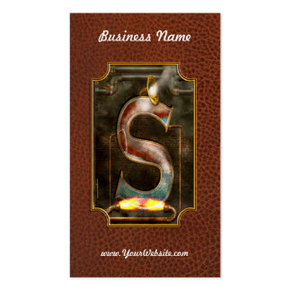 Steampunk - Alphabet - S is for Steam Double-Sided Standard Business Cards (Pack Of 100)