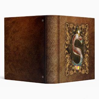 Steampunk - Alphabet - S is for Steam Vinyl Binder