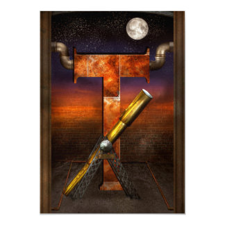 Steampunk - Alphabet - T is for Telescope Card