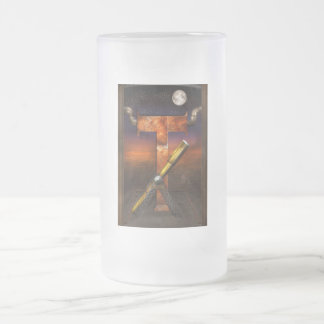 Steampunk - Alphabet - T is for Telescope Frosted Glass Beer Mug