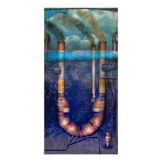Steampunk - Alphabet - U is for Underwater Utopia Customized Photo Card