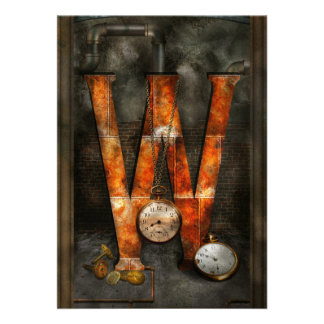 Steampunk - Alphabet - W is for Watches Custom Announcements
