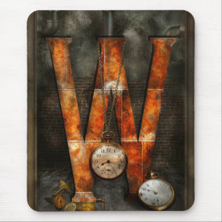 Steampunk - Alphabet - W is for Watches Mouse Pad