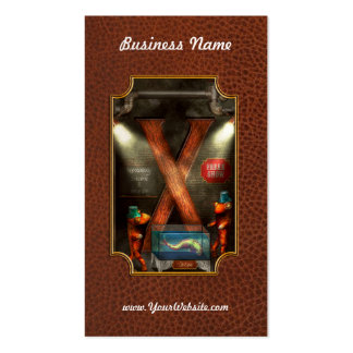 Steampunk - Alphabet - X is for Xenobiology Double-Sided Standard Business Cards (Pack Of 100)