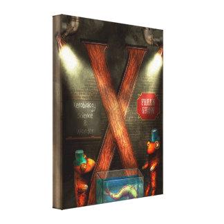 Steampunk - Alphabet - X is for Xenobiology Canvas Prints