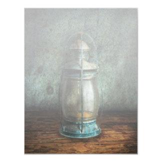 Steampunk - An old lantern 4.25x5.5 Paper Invitation Card