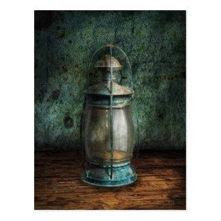 Steampunk - An old lantern Post Card