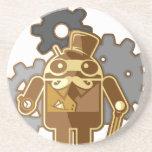 Steampunk Android Bierdeckel