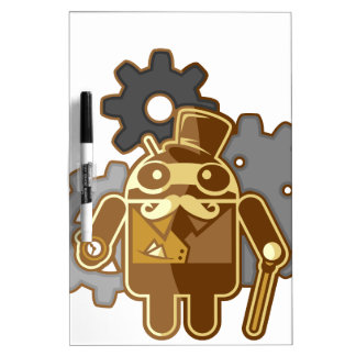 Steampunk android Dry-Erase boards