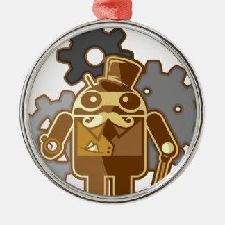 Steampunk android metal ornament