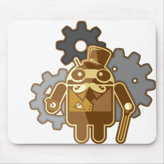 Steampunk android mouse pads