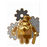Steampunk android postcard