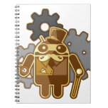 Steampunk android spiral notebook