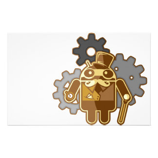 Steampunk android stationery paper