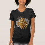 Steampunk android t-shirt