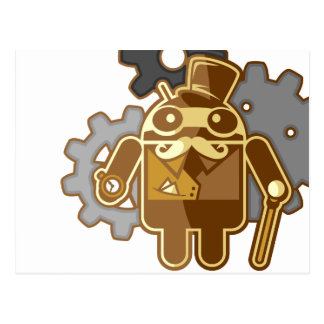 Steampunk Android Postales