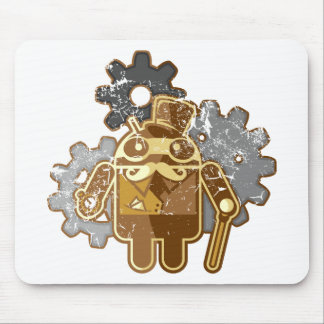 Steampunk android used look mouse pads