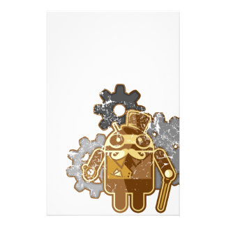 Steampunk android used look stationery design