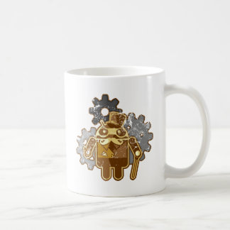 Steampunk Android used look Taza