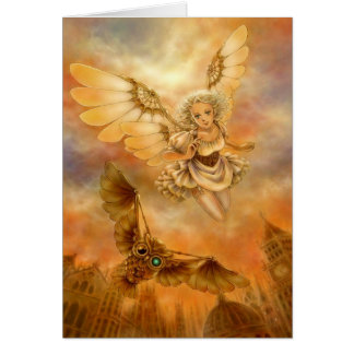 Steampunk Angel Fantasy Greeting Card