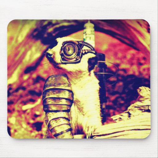 steampunk animal mouse pad