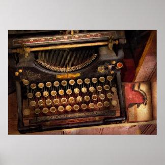 Steampunk - apenas una máquina de escribir póster