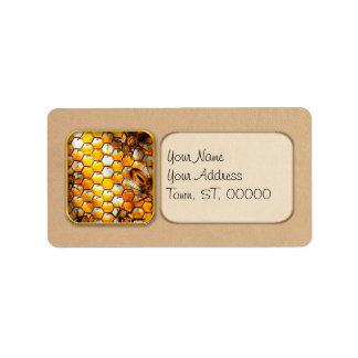 Steampunk - Apiary - The hive Address Label
