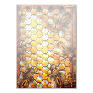 Steampunk - Apiary - The hive Personalized Invitations