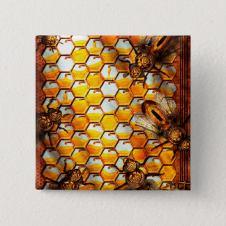 Steampunk - Apiary - The hive Pinback Button