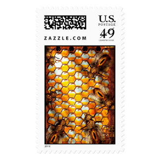 Steampunk - Apiary - The hive Postage Stamps