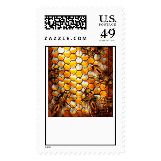 Steampunk - Apiary - The hive Postage Stamp