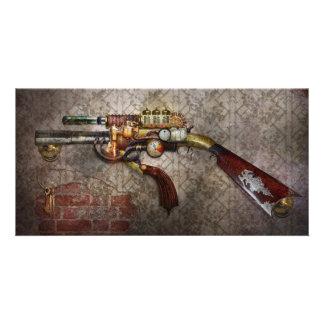 Steampunk - arma - el sidearm tarjeta fotografica