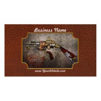 Steampunk - arma - el sidearm tarjetas de visita