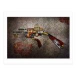 Steampunk - arma - el sidearm tarjetas postales