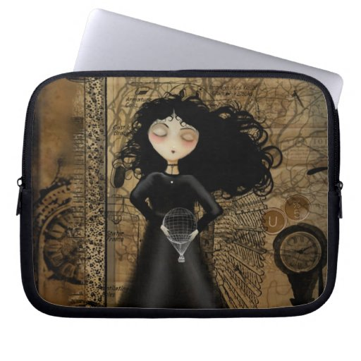 Steampunk Art Goth Girl Laptop Sleeve