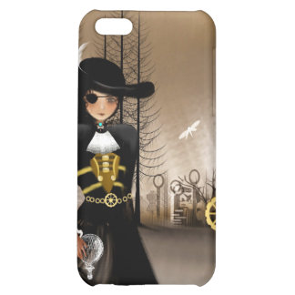 Steampunk Art iPhone Case Airship Pirate Cover For iPhone 5C