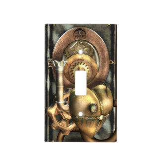 Mechanical Light Switch Covers | Zazzle:Steampunk At Heart Light Switch Cover,Lighting