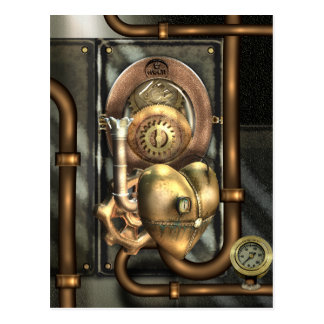 Steampunk At Heart Postcard