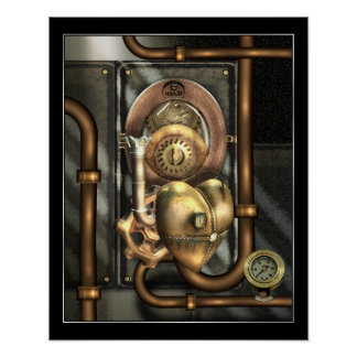 Steampunk At Heart Poster
