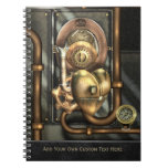 Steampunk At Heart Spiral Notebooks
