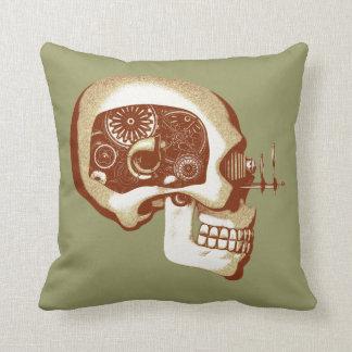 Steampunk Automaton #1C Throw Pillows