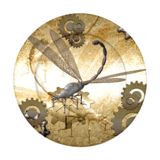 Steampunk, awesome dragonflies with gears button covers