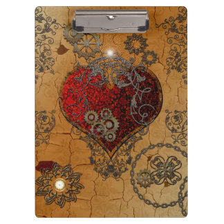 Steampunk, awesome heart clipboard