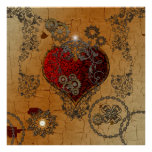 Steampunk, awesome heart poster