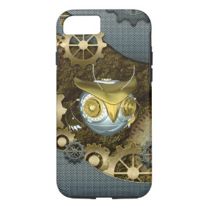 Steampunk, awesome   mechanical owl iPhone 7 case