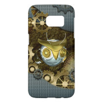Steampunk, awesome   mechanical owl samsung galaxy s7 case
