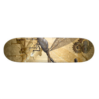Steampunk, awesome steam dragonflies skateboard deck