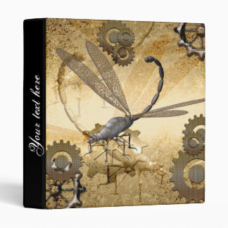 Steampunk, awesome steam dragonflies with gears binder