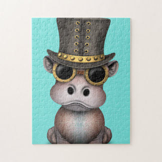 Steampunk Baby Hippo Jigsaw Puzzle