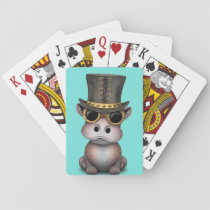 Steampunk Baby Hippo Playing Cards